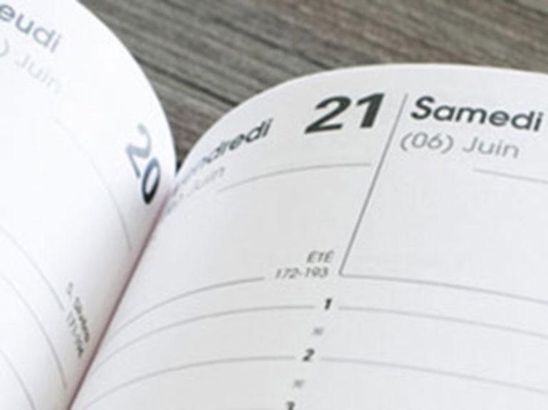 Agenda avec calendrier